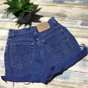 Vintage 80s Levi's high waisted cutoff shorts